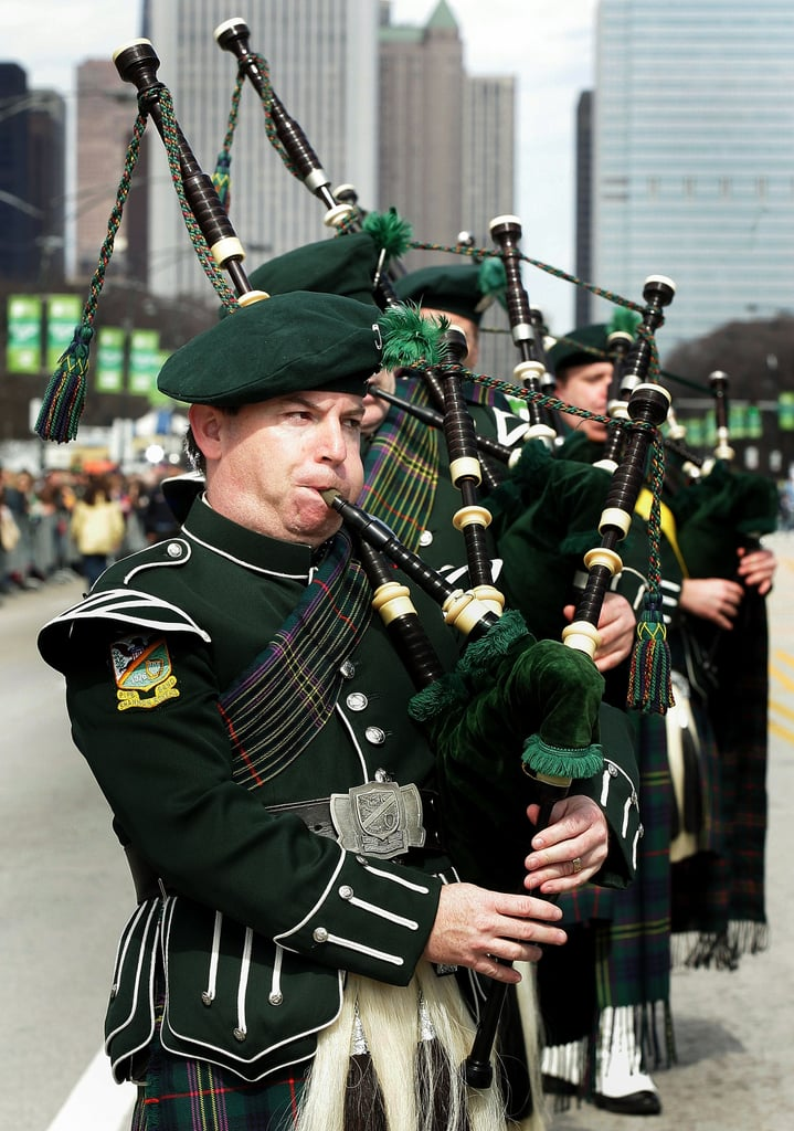 And there's a big parade, including bagpipes.