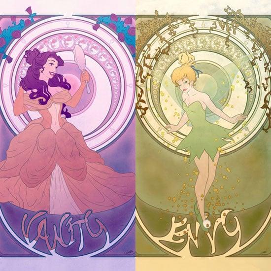 Disney Princesses as Seven Deadly Sins Art