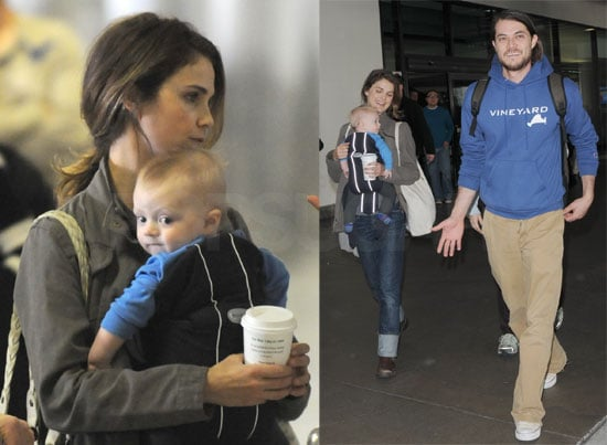 Keri Russell and Family Touch Down at LAX on February 6 2008