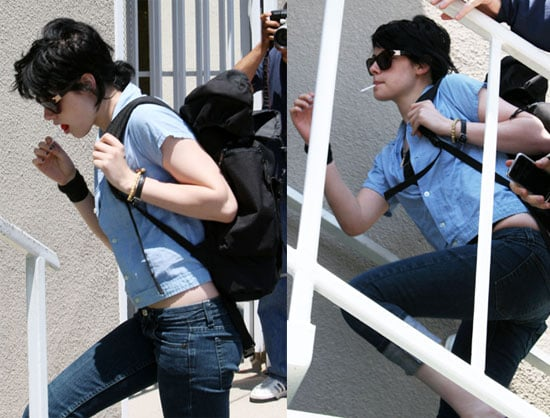 Photos of Kristen Stewart With a Lollipop on the Set of The Runaways
