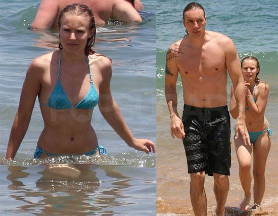 Bikini Photos of Kristen Bell and Dax Shepard in Hawaii