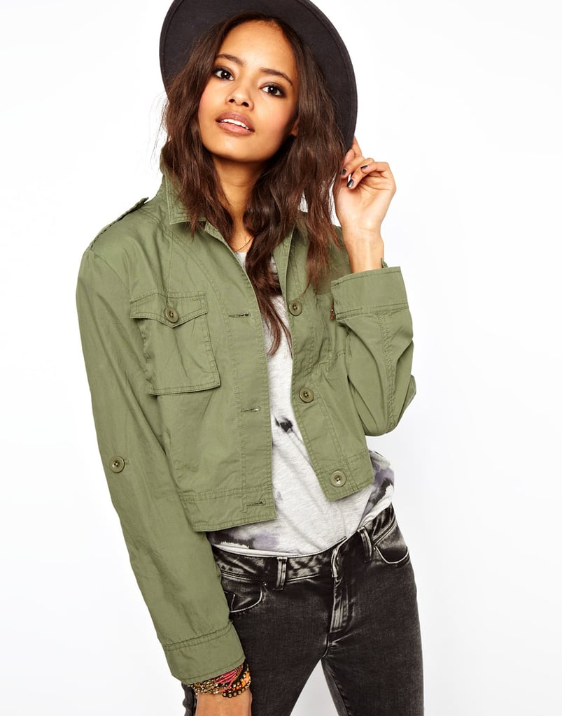 Pair ASOS's Cropped Utility Jacket ($74) with skinny jeans and a tee for now, and later with cutoffs for your next music fest — Coachella, anyone?