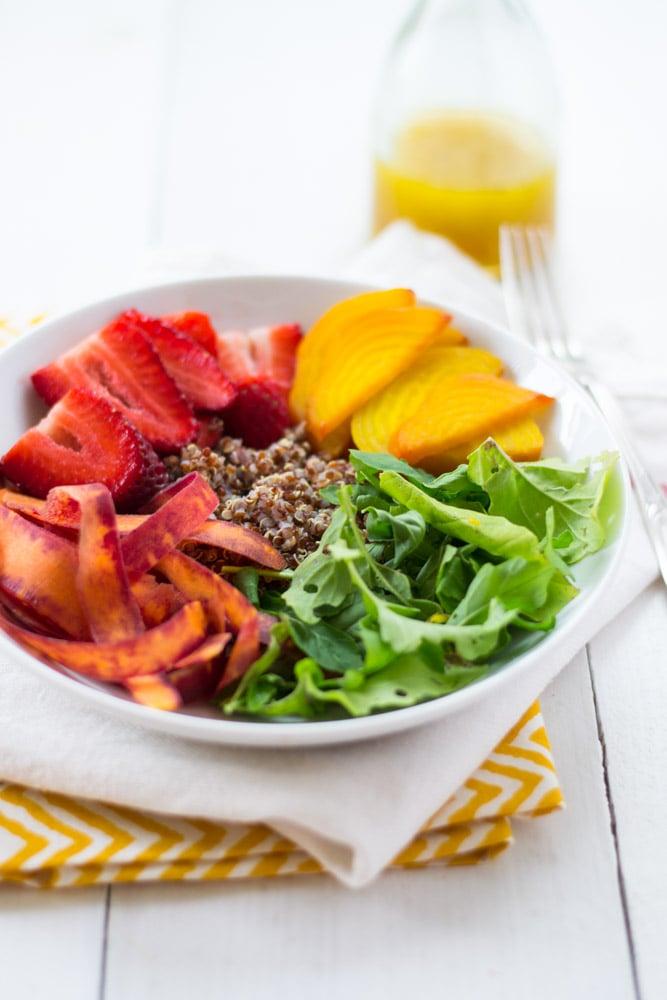 Rainbow Quinoa Salad With Honey-Citrus Vinaigrette