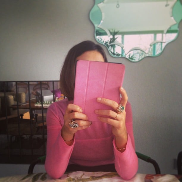 Margherita Missoni matched her iPad case to her sweater. Source: Instagram user mmmargherita
