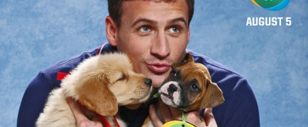 A Whole Bunch of Olympians Holding Puppies, Because Obviously