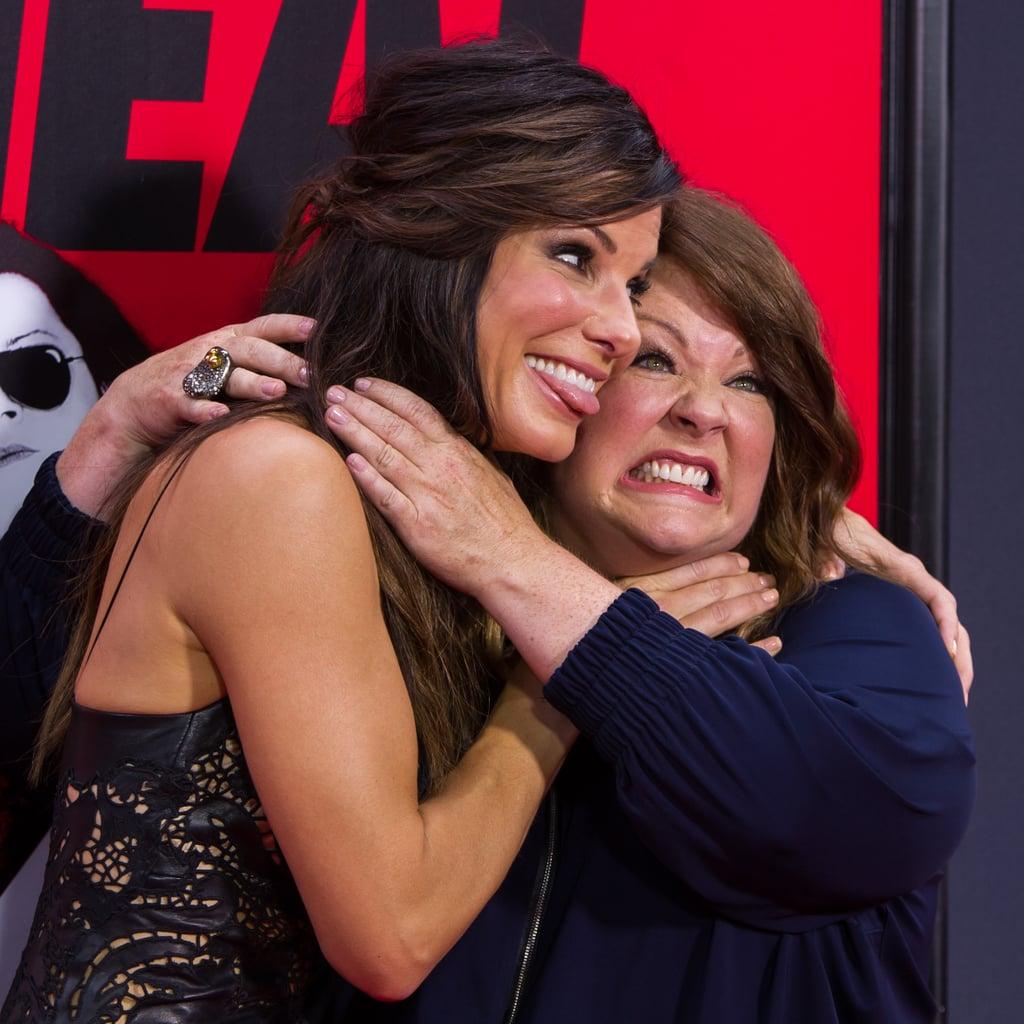Melissa McCarthy and Sandra Bullock Choking Each Other