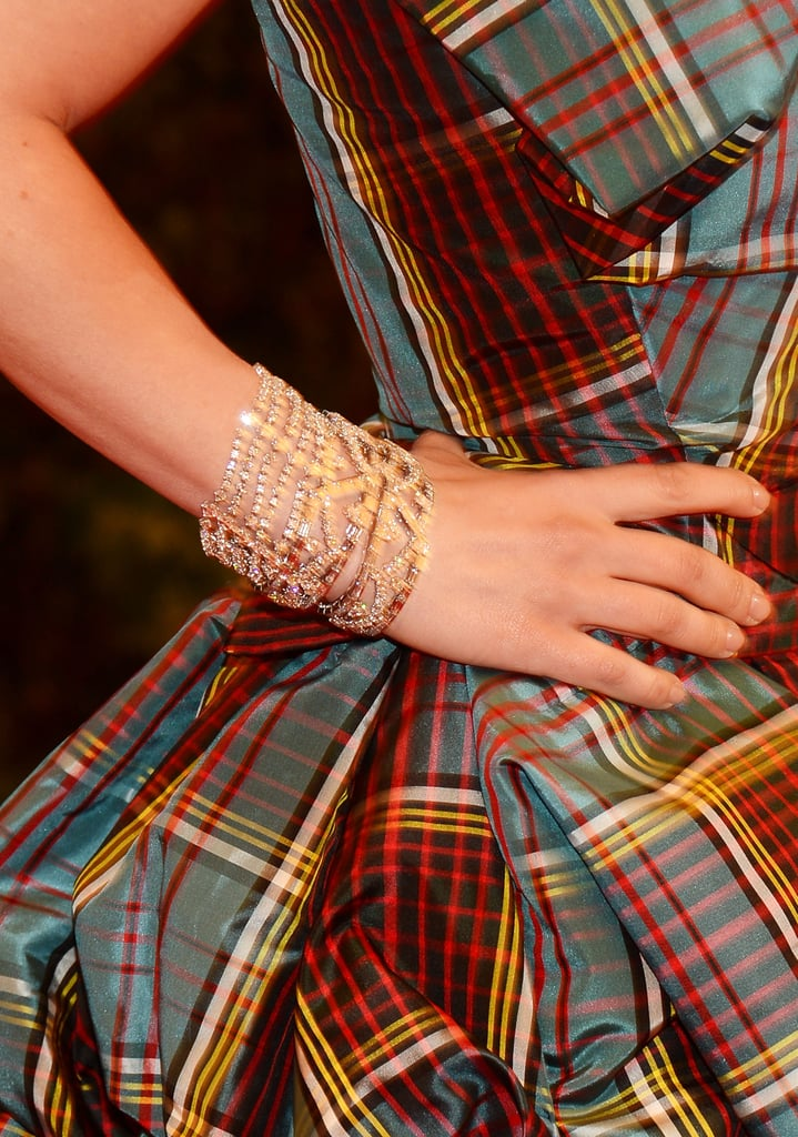 Christina Ricci polished off her plaid Vivienne Westwood gown with Harry Winston jewels.