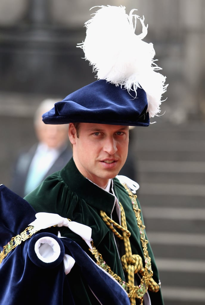 Prince William was installed as Knight of the Thistle in Edinburgh.