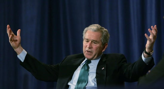 Front Page: Bush Says Life Out of Office Is Liberating