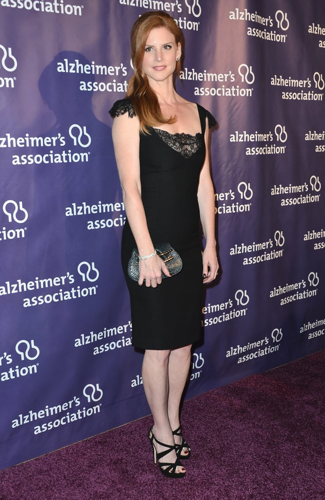Sarah Rafferty went for a black look.
