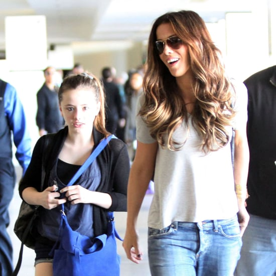 Kate Beckinsale, Lily Sheen, and Len Wiseman at LAX Pictures