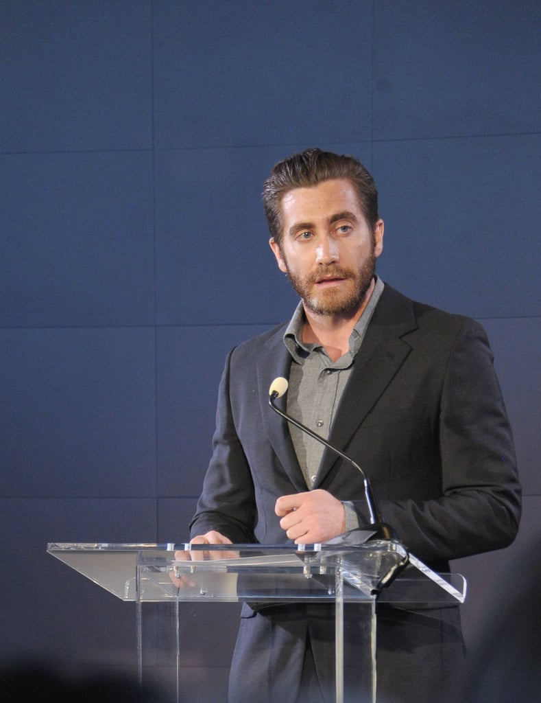Jake Gyllenhaal read a poem at The Headstrong Project's first Words of War event in NYC.