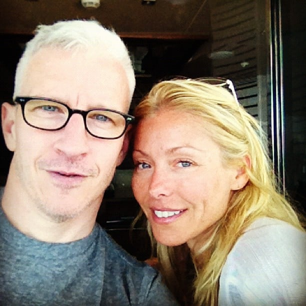 Anderson Cooper shared a cute snap of himself with Kelly Ripa. Source: Instagram user andersoncooper