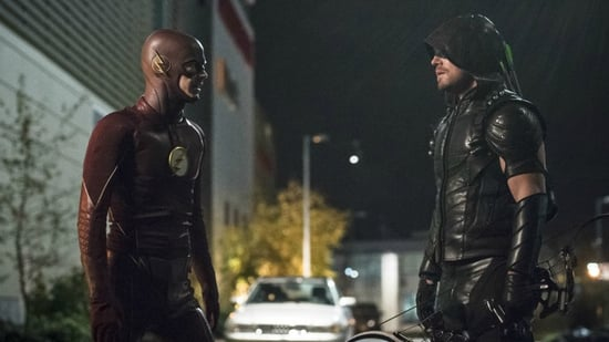 Stephen Amell Teases Epic CW Superhero Crossover Event with BTS Pic from Set