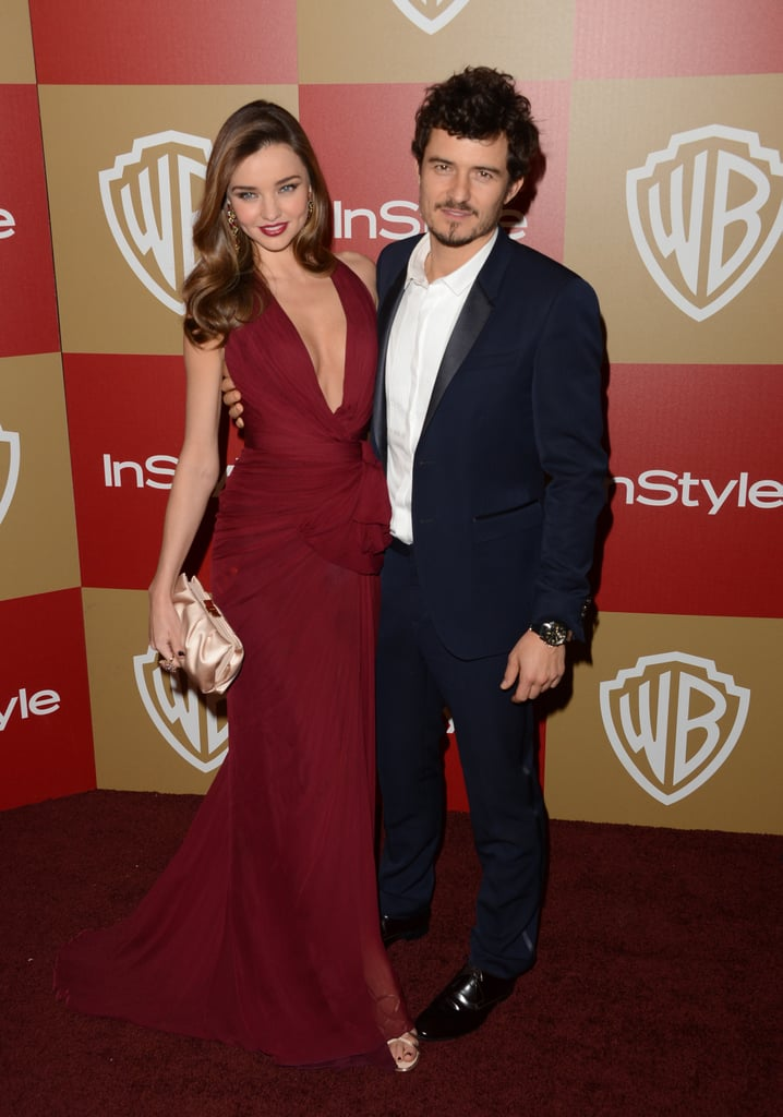 Miranda Kerr simultaneously wowed the crowds and put to rest rumours of her split with her hubby, Orlando Bloom, when they hit the Warner Bros. and Instyle Golden Globes after-party on January 13.
