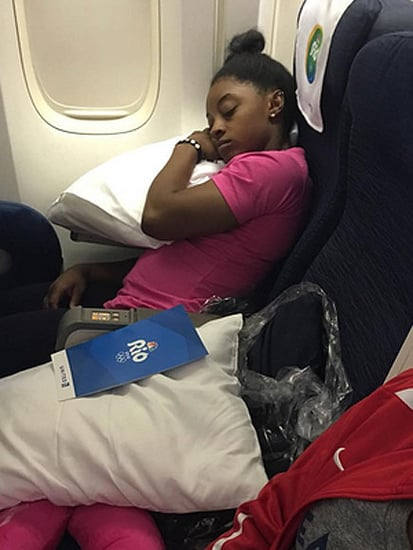 Champion Sleeper! Aly Raisman Teases Simone Biles for Napping on Plane Ride Home from Rio