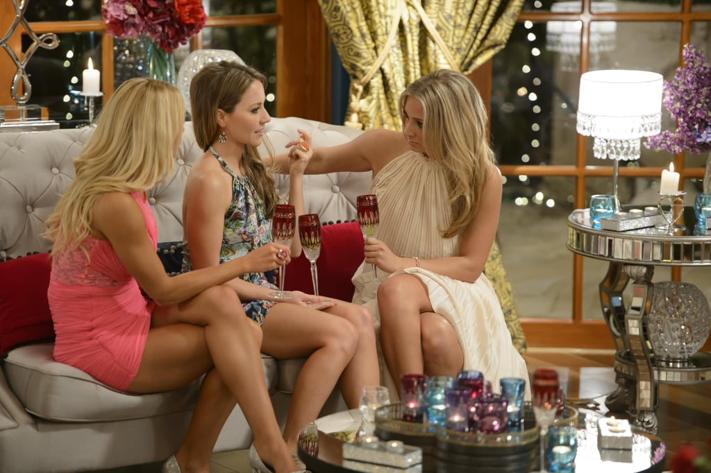 Ali, Belle and Anna in deep conversation at one of the cocktail parties.