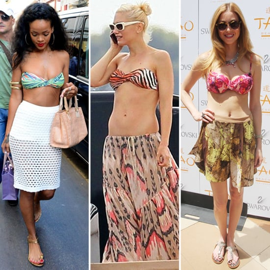 5 Celebrity-Approved Ways to Wear Your Bikini With a Skirt