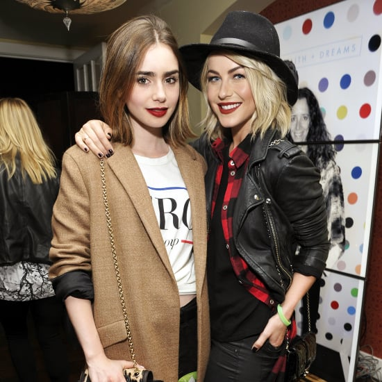 Julianne Hough and Lily Collins With Red Lipstick