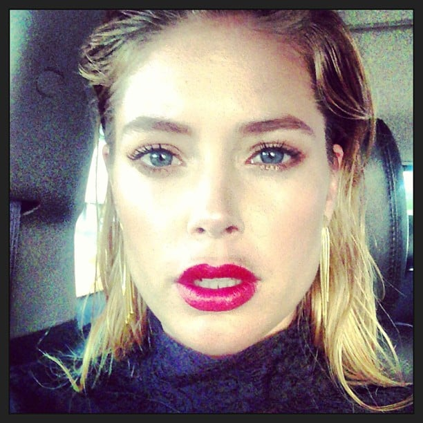 Doutzen Kroes snapped a selfie while on her way to fulfill her cochair duties at the NYC Ballet Fall Gala. Source: Instagram user doutzen
