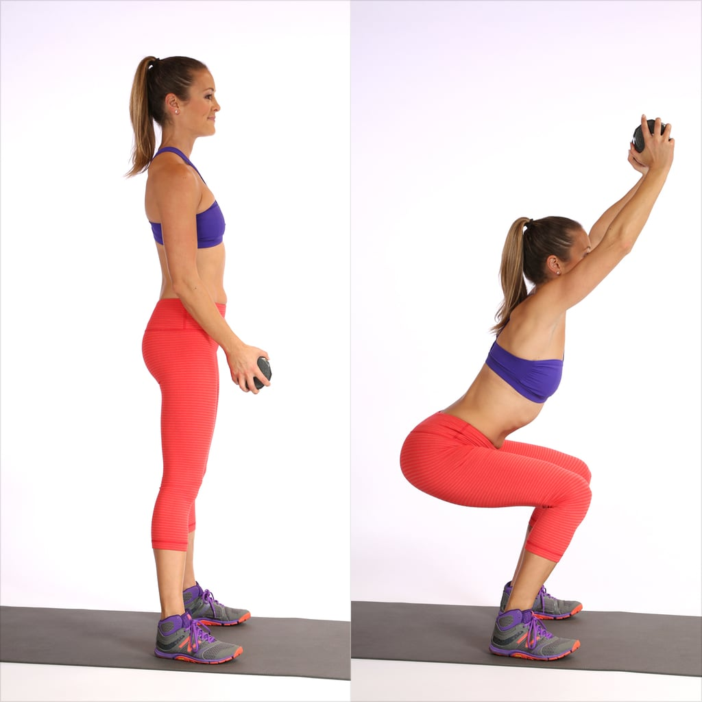 Circuit Two: Deep Squat With Overhead Reach