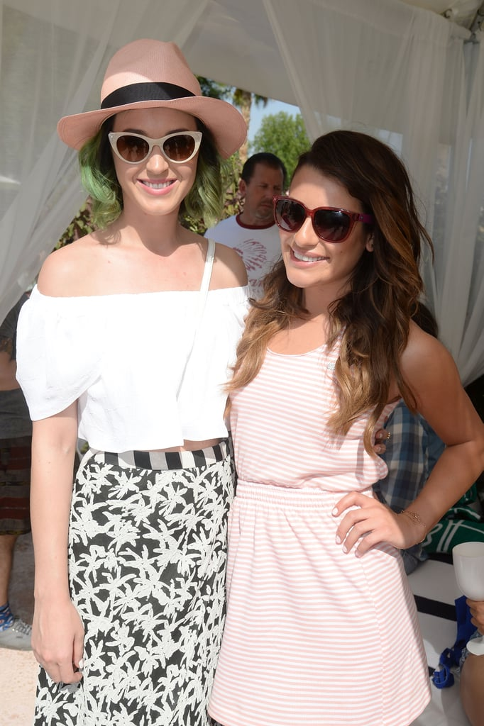 Katy Perry and Lea Michele linked up.