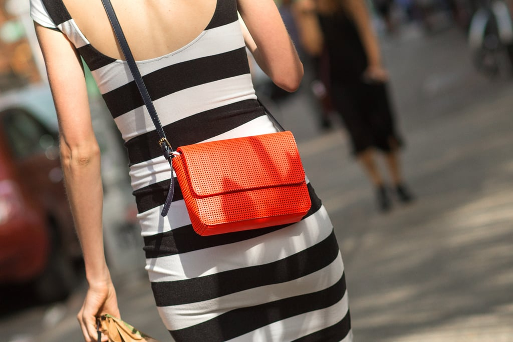 Bright accessories are a great way to add a pop of color to a monochromatic wardrobe.
