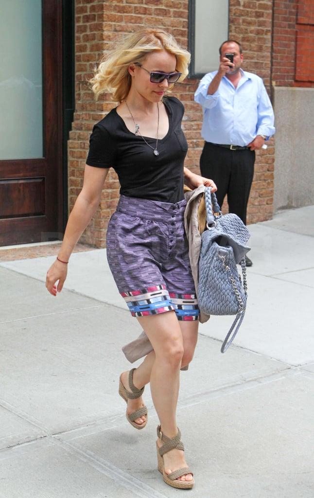 Pictures of Rachel McAdams Leaving Hotel