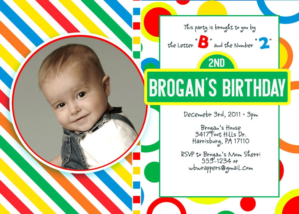 Sesame Street Birthday Invitation