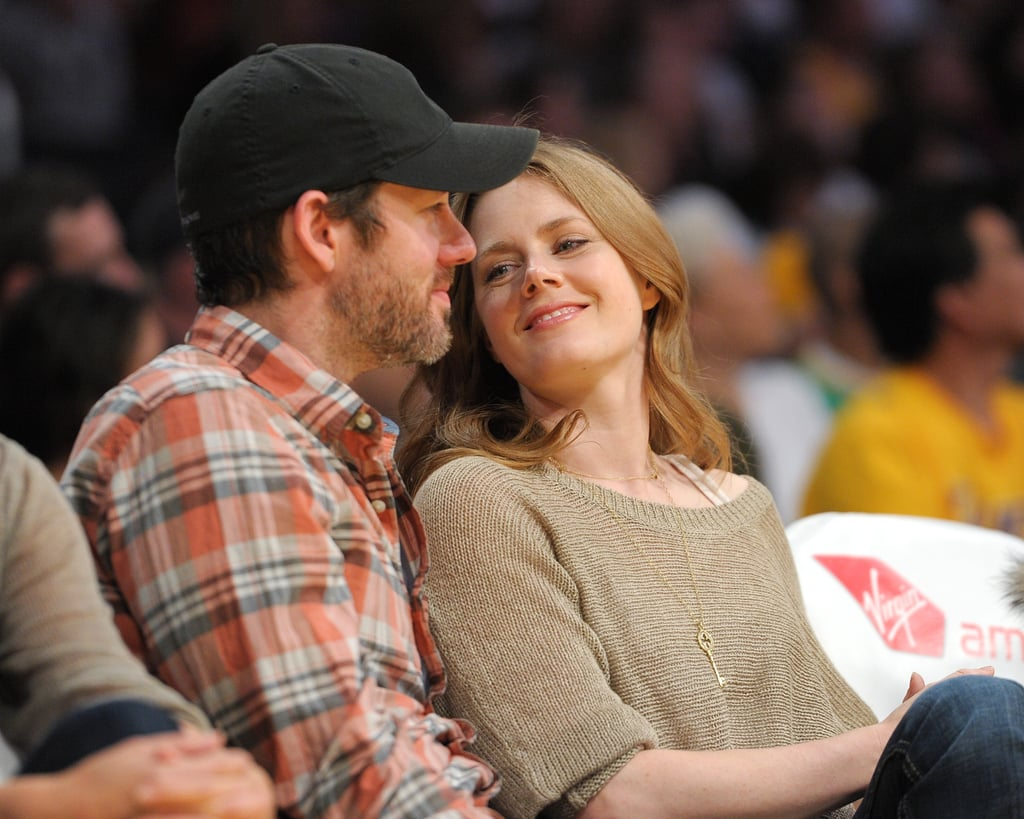 The couple had a sweet, casual date night at a Lakers game in April 2011.