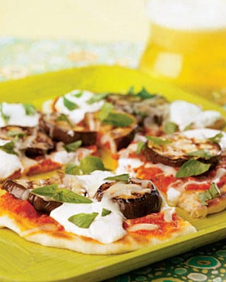 Grilled Eggplant Parmesan Pizza Recipe