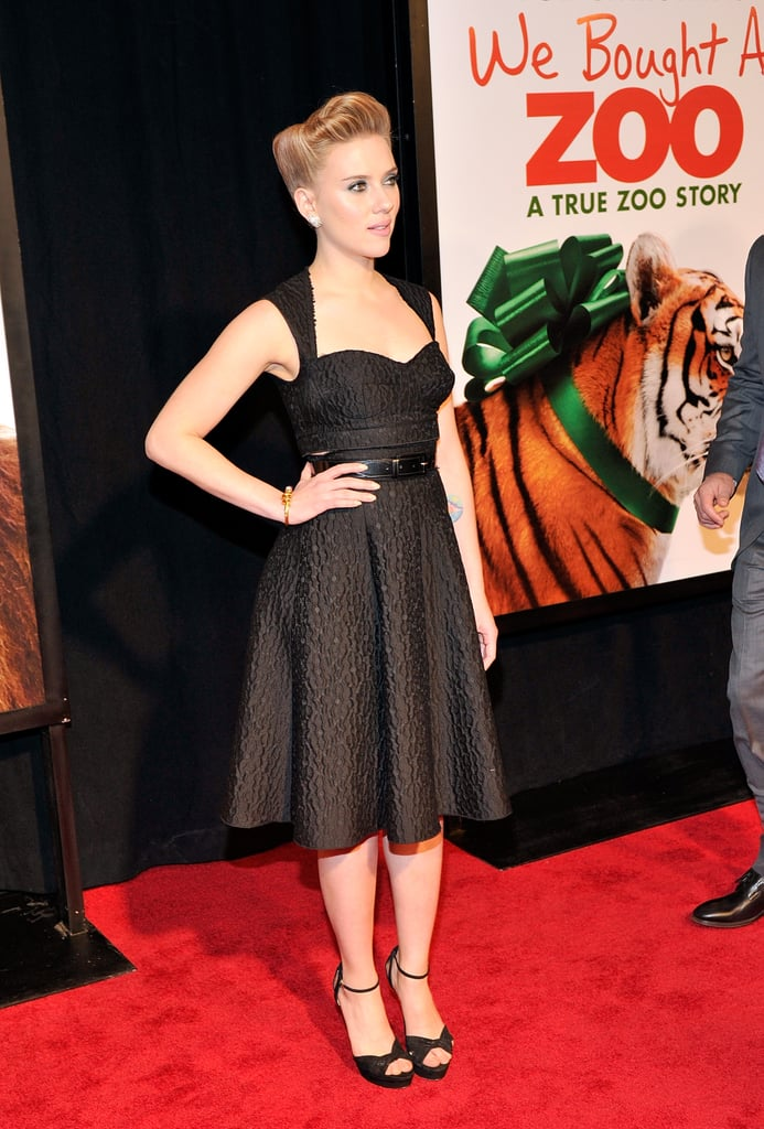 Scarlett Johansson hit a few poses for the cameras.