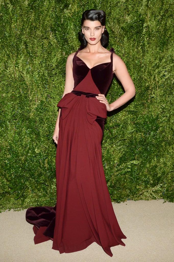 Crystal Renn at the CFDA/Vogue Fashion Fund Awards.