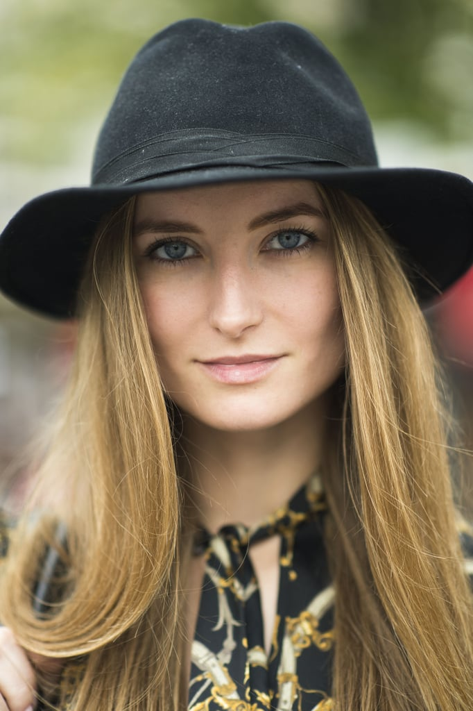 Toss a cap onto your silky blowout for a sexy, chic look. Source: Le 21ème | Adam Katz Sinding
