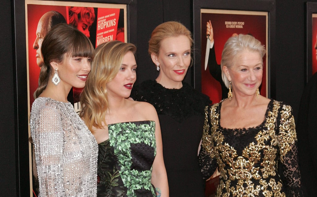 Jessica Biel, Scarlett Johansson, Toni Collette and Helen Mirren posed for photos at the Hitchcock premiere in NYC.