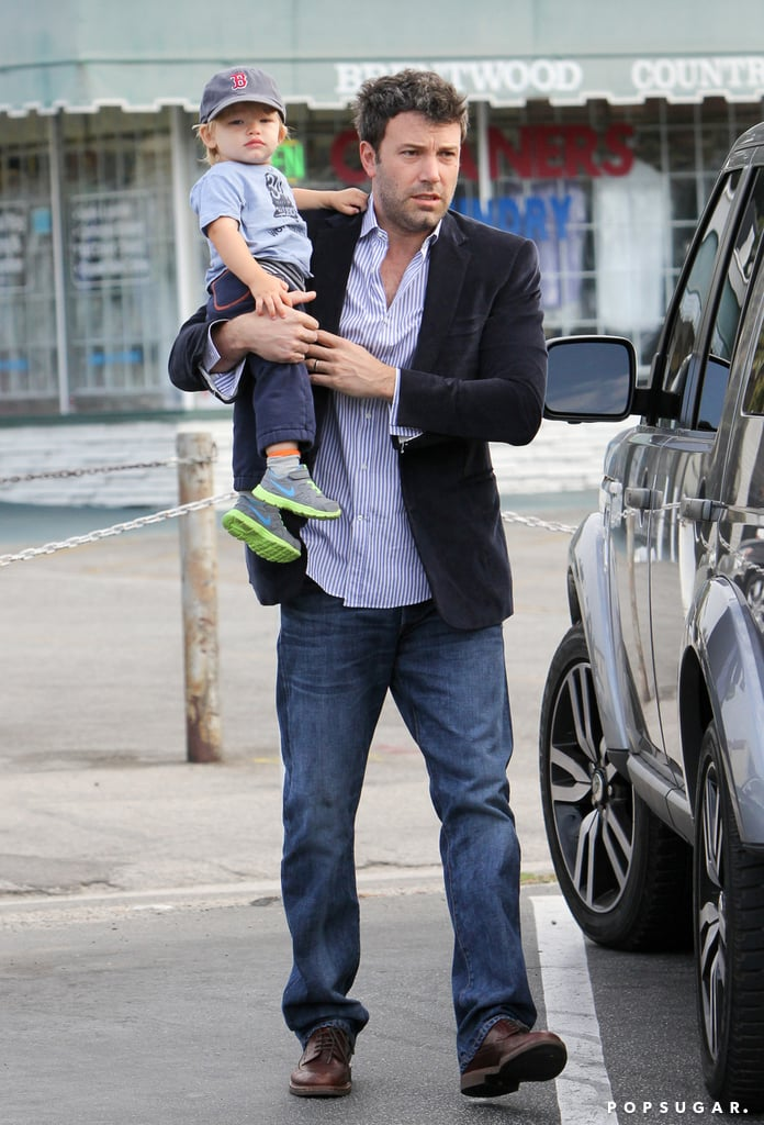 Ben Affleck and his son, Samuel, made a breakfast stop together in Brentwood.
