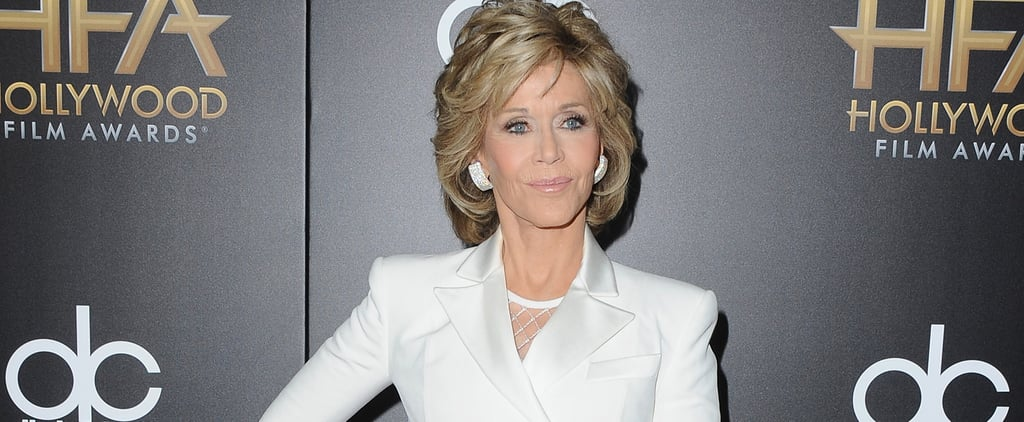 Jane Fonda Pulled Off Doutzen Kroes's Sexy Balmain Runway Look Like a Total Boss