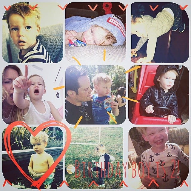 Hilary Duff shared a collage of photos for her son Luca's birthday. Source: Instagram user hilaryduff