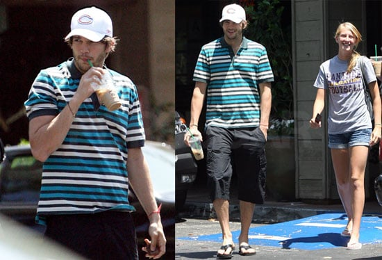 Photos of Ashton Kutcher at a Deli in LA With Two Young Girls