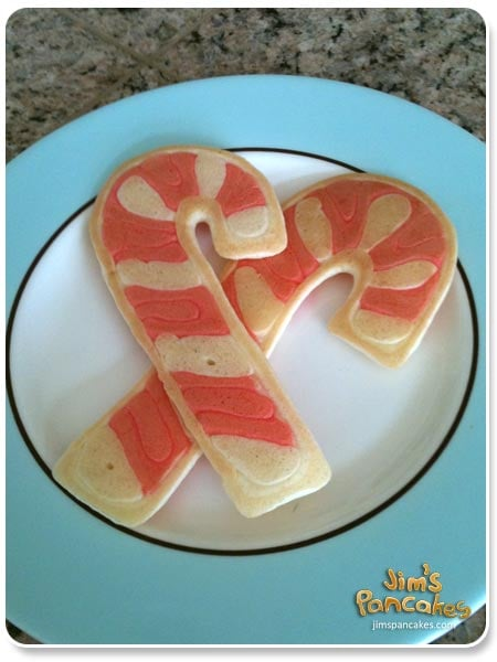 Candy Cane Pancakes