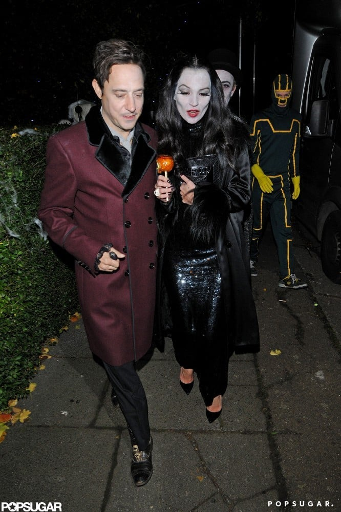 Jamie and Kate dressed as Gomez and Morticia Adams for a star-studded Halloween party in October 2012.