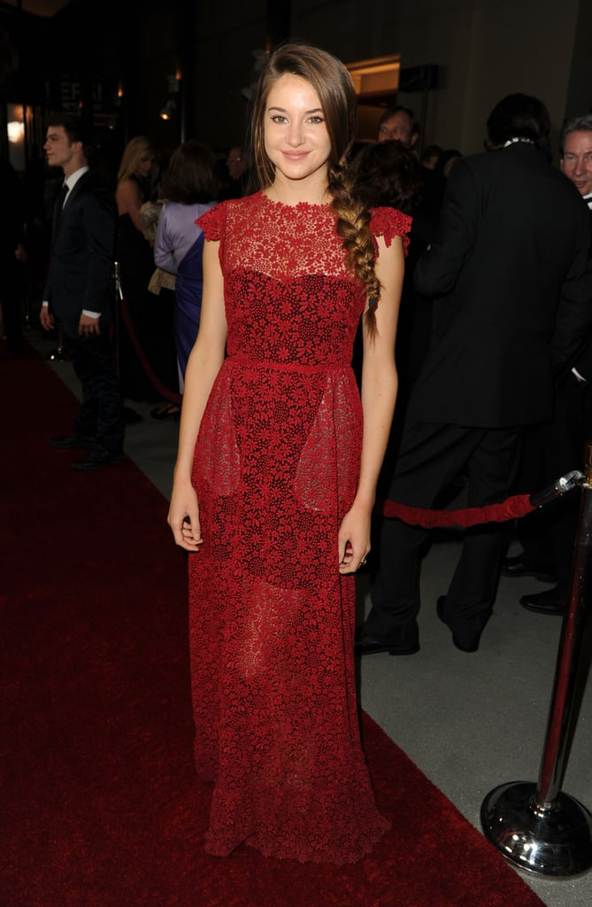 Shailene Woodley in Lace Valentino at the 2012 Directors Guild of America Awards