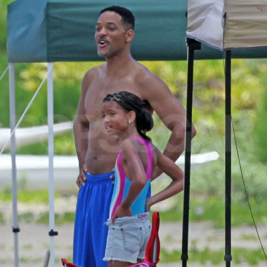 Will Smith Shirtless Pictures in Hawaii With His Kids