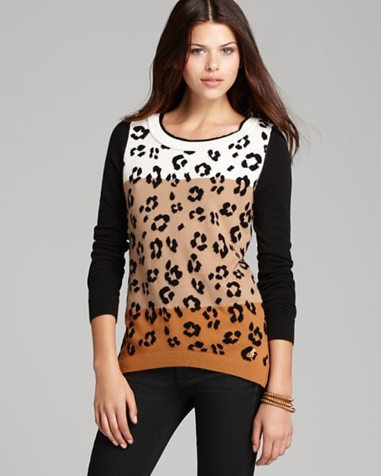 All hail the perfect sweater. With sporty raglan sleeves, supple merino wool, and a colorblock leopard print, it's easy to see why this sweet Juicy Couture sweater ($148) is a must have. — MV