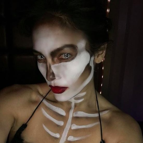 Jennifer Lopez and Casper Smart Skeleton Halloween Costumes