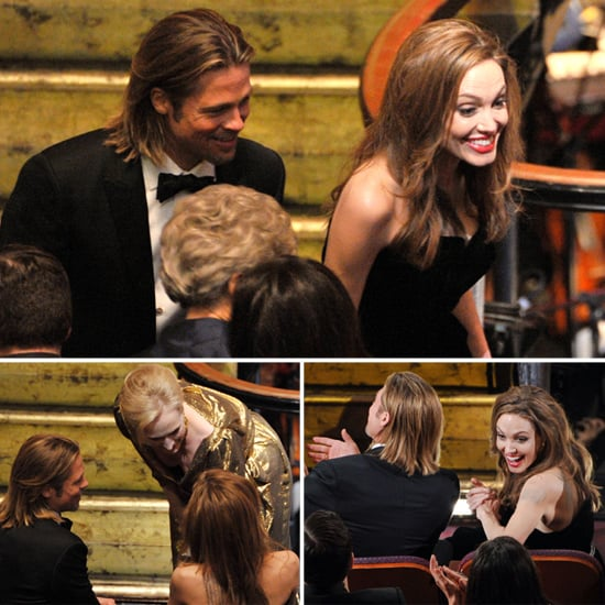 Angelina Jolie and Brad Pitt Inside Oscars Pictures 2012
