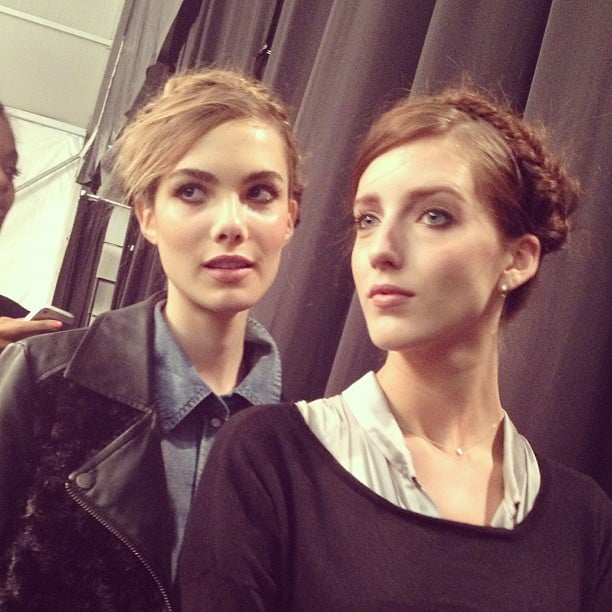 Tresemmé gave Frida Kahlo braids a modern twist at Rebecca Minkoff.