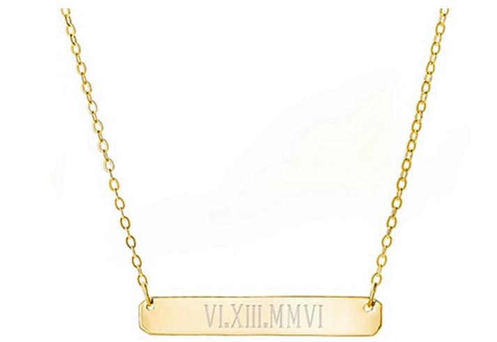 Roman Numerals Necklace
