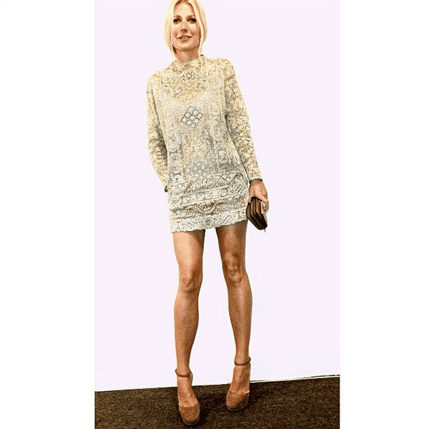 Gwyneth Paltrow showed off the short and sexy Valentino dress that missed the Golden Globes red carpet. Source: Instagram user gwynethpaltrow
