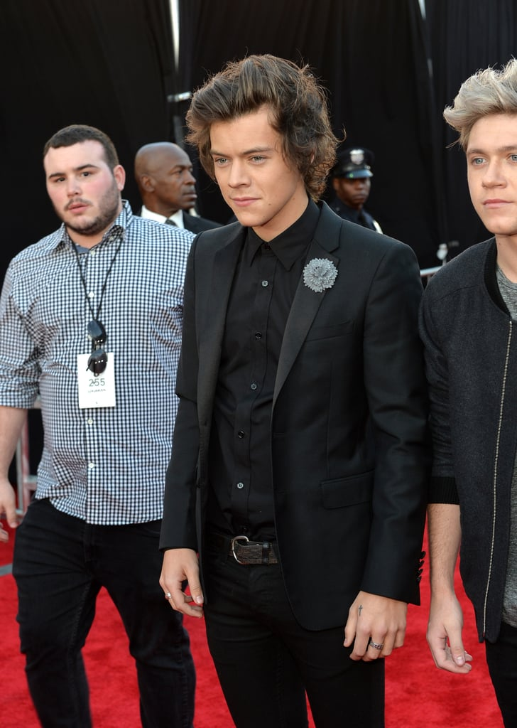 Harry Styles made his entrance.